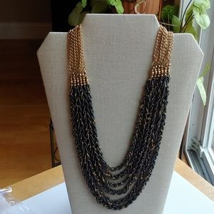 Lenox Multi Strand Seed Bead Necklace